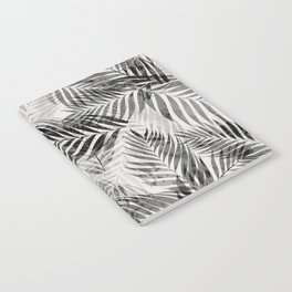 Palm Leaves - Black & White Notebook