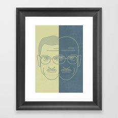 Breaking Bad - Faces - Double Walter White Framed Art Print