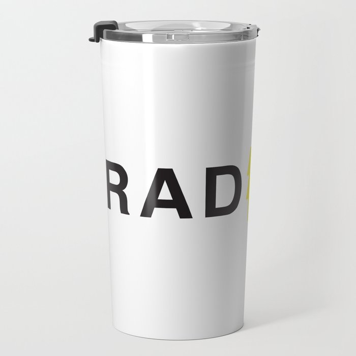 Radical - Black on White Travel Mug