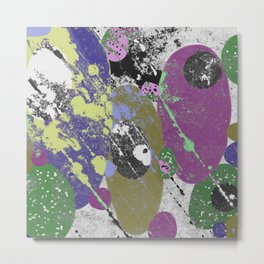 Gather Together - Abstract, pastel coloured, textured, artwork Metal Print
