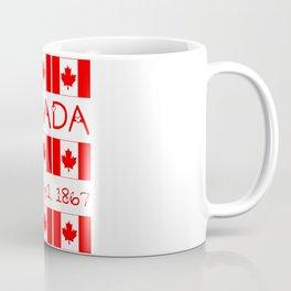 Canada Day Maple Leaf Pattern Canadian Flag Coffee Mug