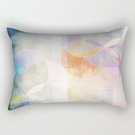 Gamma - Contemporary Geometric Circles Rectangular Pillow