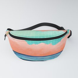 Graphic Seascape I Fanny Pack
