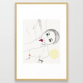 Good Girl Framed Art Print