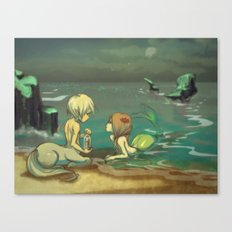 Message in the bottle Canvas Print