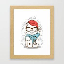 Hipster Kitty Framed Art Print