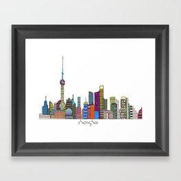 Shanghai city Framed Art Print