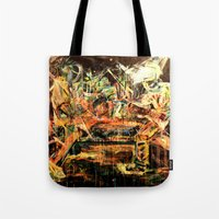 nirvana Tote Bags featuring Nirvana by 2700art