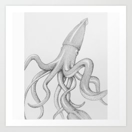 squid-word Art Print