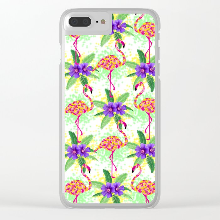 Tropical Party Clear iPhone Case