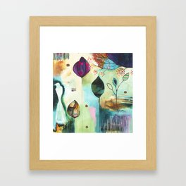"""Abundance"" Original Painting by Flora Bowley  Framed Art Print"