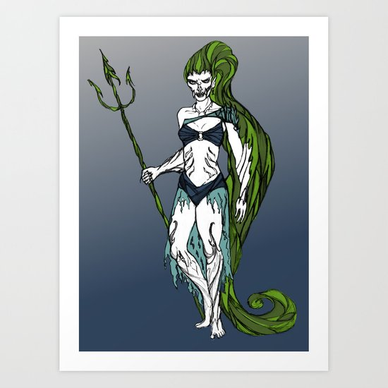 Water Warrior Art Print