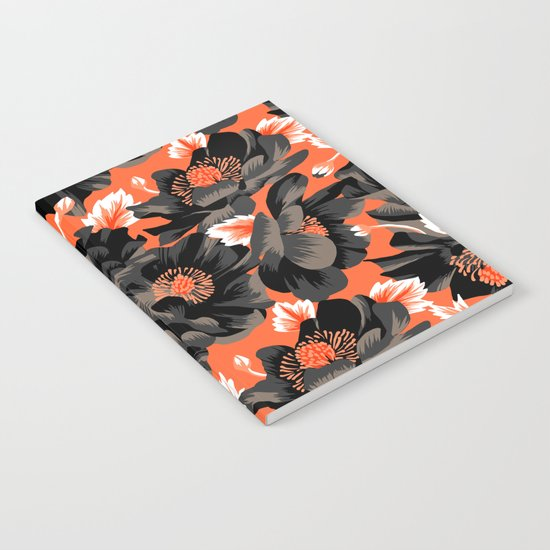 Mount Cook Lily - Orange/Black Notebook