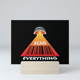 Scan Everything Amazonian Barcode Roll - Payment Tracking - Bar Code Mini Art Print