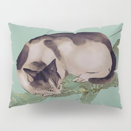 Cat In The Pines Pillow Sham