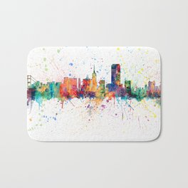 San Francisco City Skyline Bath Mat