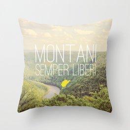 West Virginia, Montani Semper Liberi Throw Pillow