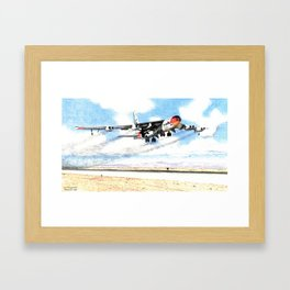 NB-52 with X-15 take-off Framed Art Print