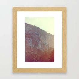 Slope Down Framed Art Print