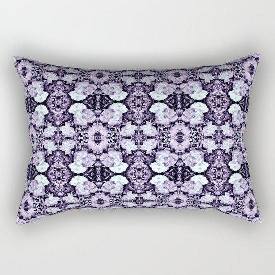 Violet  Roses Seamless Pattern Rectangular Pillow