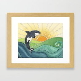 Westcoast Orca Framed Art Print