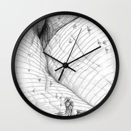 asc 660 - La route des origines (Bab alhaya) Wall Clock