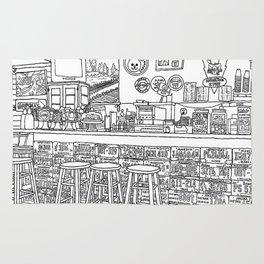 Arizona Flagstuff Diner - Line Art Rug