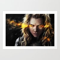 bad wolf Art Prints featuring Bad Wolf by Westling