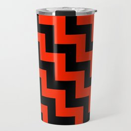 Black and Scarlet Red Steps LTR Travel Mug