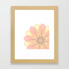 Abstract Floral Card Framed Art Print