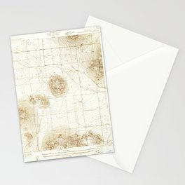 Lovejoy Springs, CA from 1930 Vintage Map - High Quality Stationery Cards