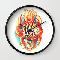 stay gold Wall Clocks featuring Stay Gold by Jared Yamahata