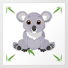 Cute Little Koala Bear Art Print