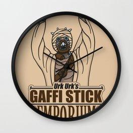 Urk Urk's Gaffi Stick Emporium Wall Clock