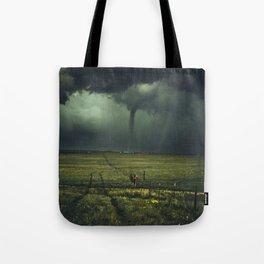 Tornado Coming (Color) Tote Bag