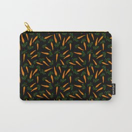 Carrots Black Carry-All Pouch