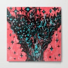 Glitchy skull Metal Print