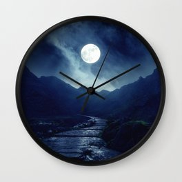 Walk to the Moon Wall Clock