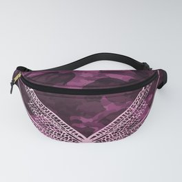 pink dragonfly wing camo Fanny Pack