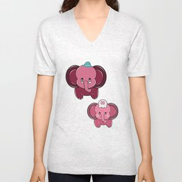 Plumpy Family Unisex V-Neck