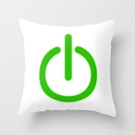 "A Perfect Gift For Anyone Who Loves Waiting Or Being On Standby ""Power Standby Button"" T-shirt Throw Pillow"