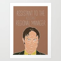 dwight Art Prints featuring Dwight Schrute by The Two Pens