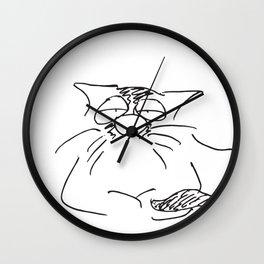 The boss is sleepy Wall Clock
