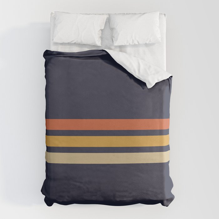 Vintage Retro Stripes Bettbezug