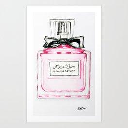 Blooming Bouquete Parfume Art Print