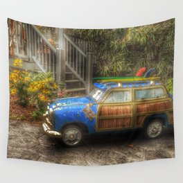 Off to Fulfill a Surfing Dream Wall Tapestry