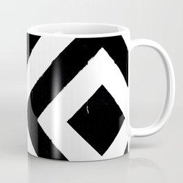 Pattern Grunge Geometrical squares black and white retro Coffee Mug