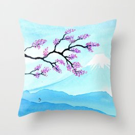 A Single Branch Throw Pillow