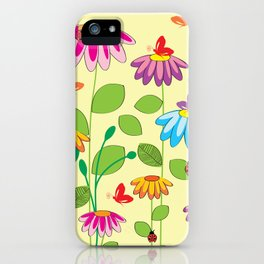 colorful meadow iPhone Case