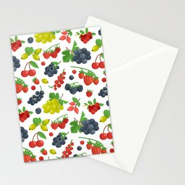 Colorful Berries Pattern Stationery Cards